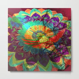 I'd rather be a hummingbird caged in your psychedelic heart Metal Print