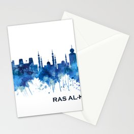 Ras Al-Khaimah UAE Skyline Blue Stationery Cards