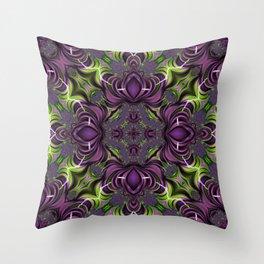 Acid Trip Fractal Kaleidoscope 2 Throw Pillow