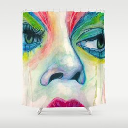 All Made Up Shower Curtain