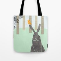 rabbit Tote Bags featuring Rabbit by Dream Of Forest