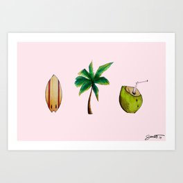 Beachlife Trio Art Print