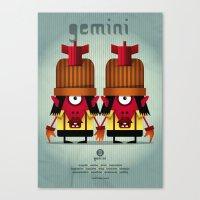 gemini Canvas Prints featuring GEMINI by Angelo Cerantola