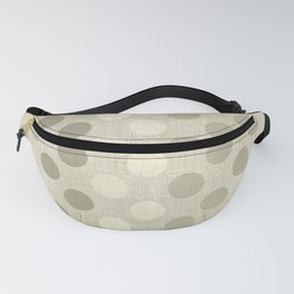 """Nude Burlap Texture and Polka Dots"" Fanny Pack"