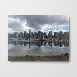 Coal Harbour Skyline Metal Print