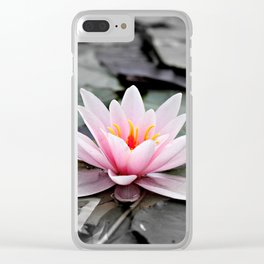 Pink Lotus Flower Waterlily Clear iPhone Case
