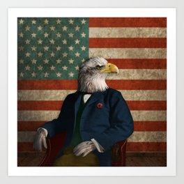 Official Portrait of Senator Silas Eagle Art Print