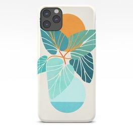 Tropical Symmetry / Retro Aqua Orange Palette iPhone Case