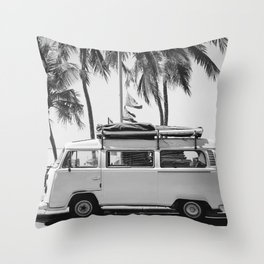 Retro Van Throw Pillow