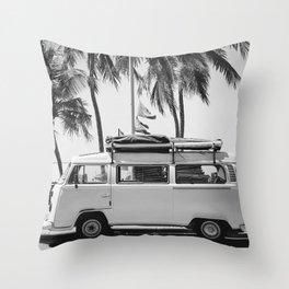 Retro Van Throw Pillow