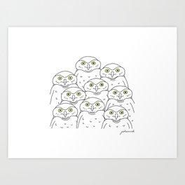 Group of Owls Art Print