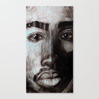 tupac Canvas Prints featuring Pop Cult™ - Tupac  by Lina Barbarin - Pop Cult™ & Aminals™