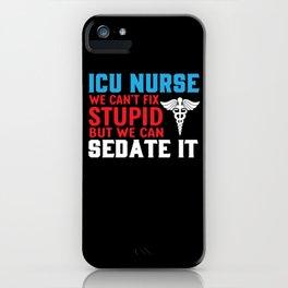 ICU nurse iPhone Case