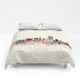 san francisco skyline Comforters