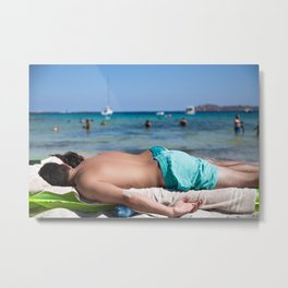 Summer nap Metal Print