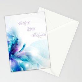 All of Me | John Legend Inspired Lyric Art Print Stationery Cards