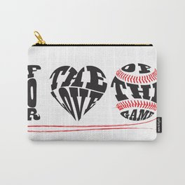 I Love Baseball Carry-All Pouch