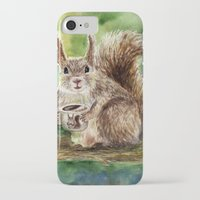 squirrel iPhone & iPod Cases featuring Squirrel by Anna Shell