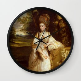"Sir Joshua Reynolds ""Lady Bampfylde"" Wall Clock"