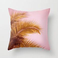 Rose Gold Tropics Throw Pillow