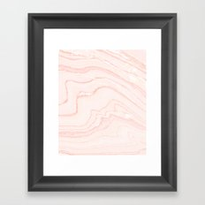 Blush Marble Framed Art Print