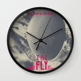 The Fly, horror movie poster, David Cronenberg, Jeff Goldblum, alternative playbill Wall Clock