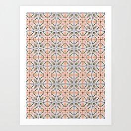 Coral Decoraive Tile Art Print