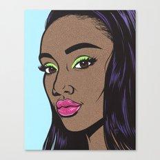 Black Fashion Model Canvas Print
