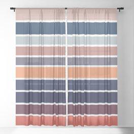 Ocean Sunset #2 Sheer Curtain