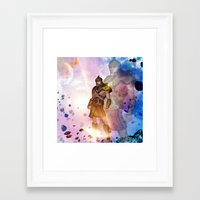 hercules Framed Art Prints featuring Hercules by nicky2342