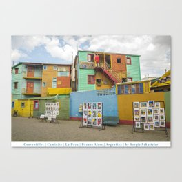 Conventillos in Caminito, Buenos Aires Canvas Print