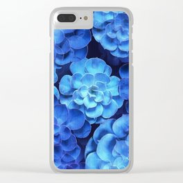 Succulent Plants In Blue Tones #decor #society6 #homedecor Clear iPhone Case
