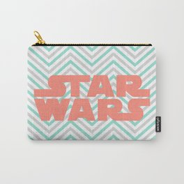 Turquoise and Coral SW and Chevrons Carry-All Pouch