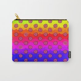 Rainbow and pink flowers Carry-All Pouch