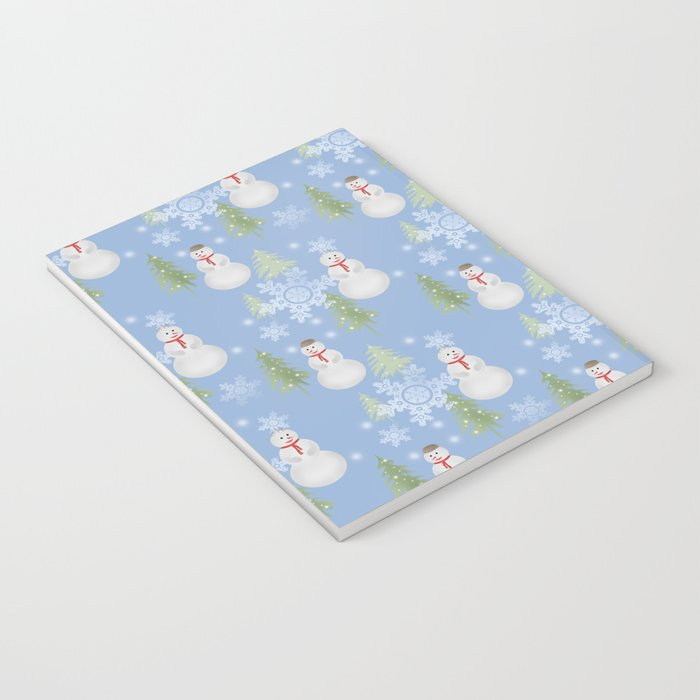 Winter . Christmas . New year . Blue background . Notebook