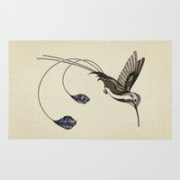 hummingbird Area & Throw Rugs featuring Hummingbird by Andreas Preis