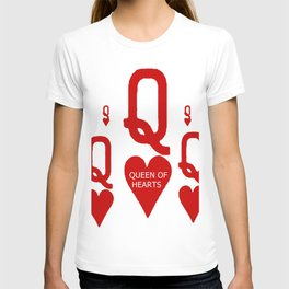 RED QUEEN OF HEARTS FROM SOCIETY6 T-shirt