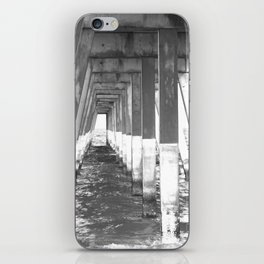Black and White Pier (Wrightsville Beach, NC) iPhone Skin