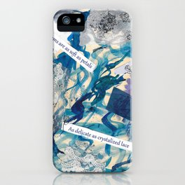Petals and Snow iPhone Case
