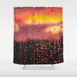 Rainy, Cozy Sunset Shower Curtain