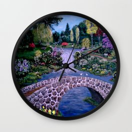 My Garden - by Ave Hurley Wall Clock