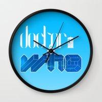 doctor Wall Clocks featuring Doctor! by alboradas