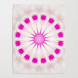 Bright Pink Simple Mandala Poster