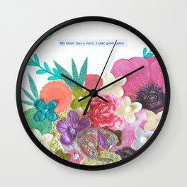 Heart Notes Wall Clock