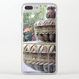 St Augustine Fountain 1 Clear iPhone Case