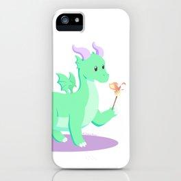 Kawaii fantasy animals - European Dragon iPhone Case