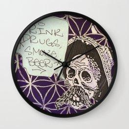 Drink Drugs, Smoke Beer Wall Clock