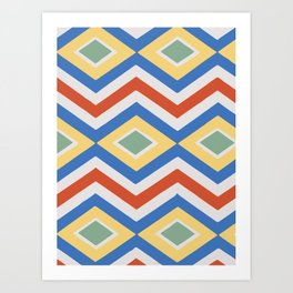 Abstract Stripes Pattern Geometric Decoration Art Print