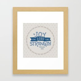 """""""The Joy of the Lord"""" Hand-Lettered Bible Verse Framed Art Print"""
