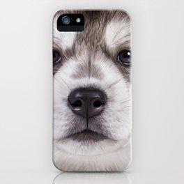 Drawing puppy Alaskan Malamute iPhone Case
